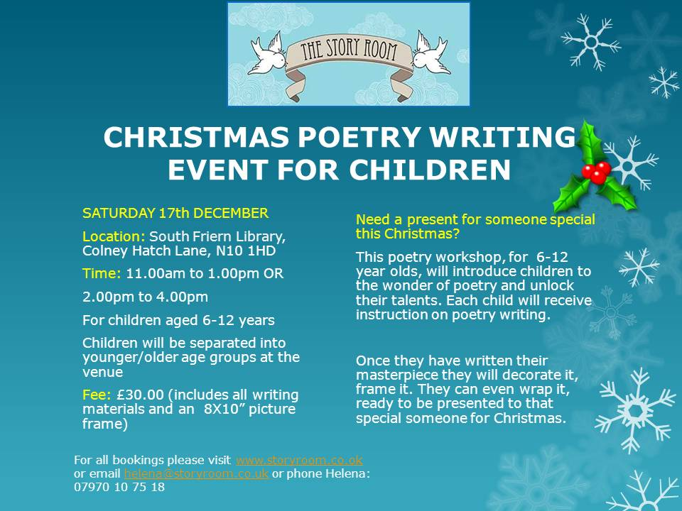 Child Christmas Poetry.Christmas Poetry Event For Children Story Room